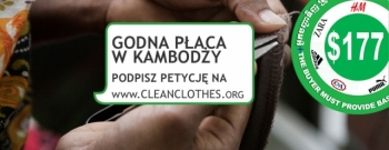 17 września 2014: Dzień Solidarności zpracownicami fabryk odzieżowych wKambodży