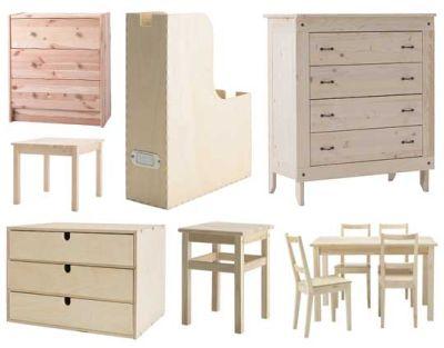Drewniane meble IKEA, źródło: www.offurniture.net